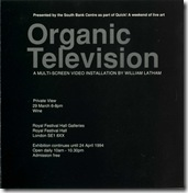 Organic TV festival hall Invite