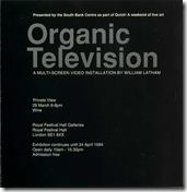Organic TV festival hall Invite